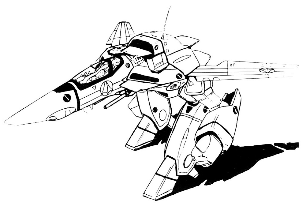 VF-1J Block 4 Valkyrie GERWALK 1