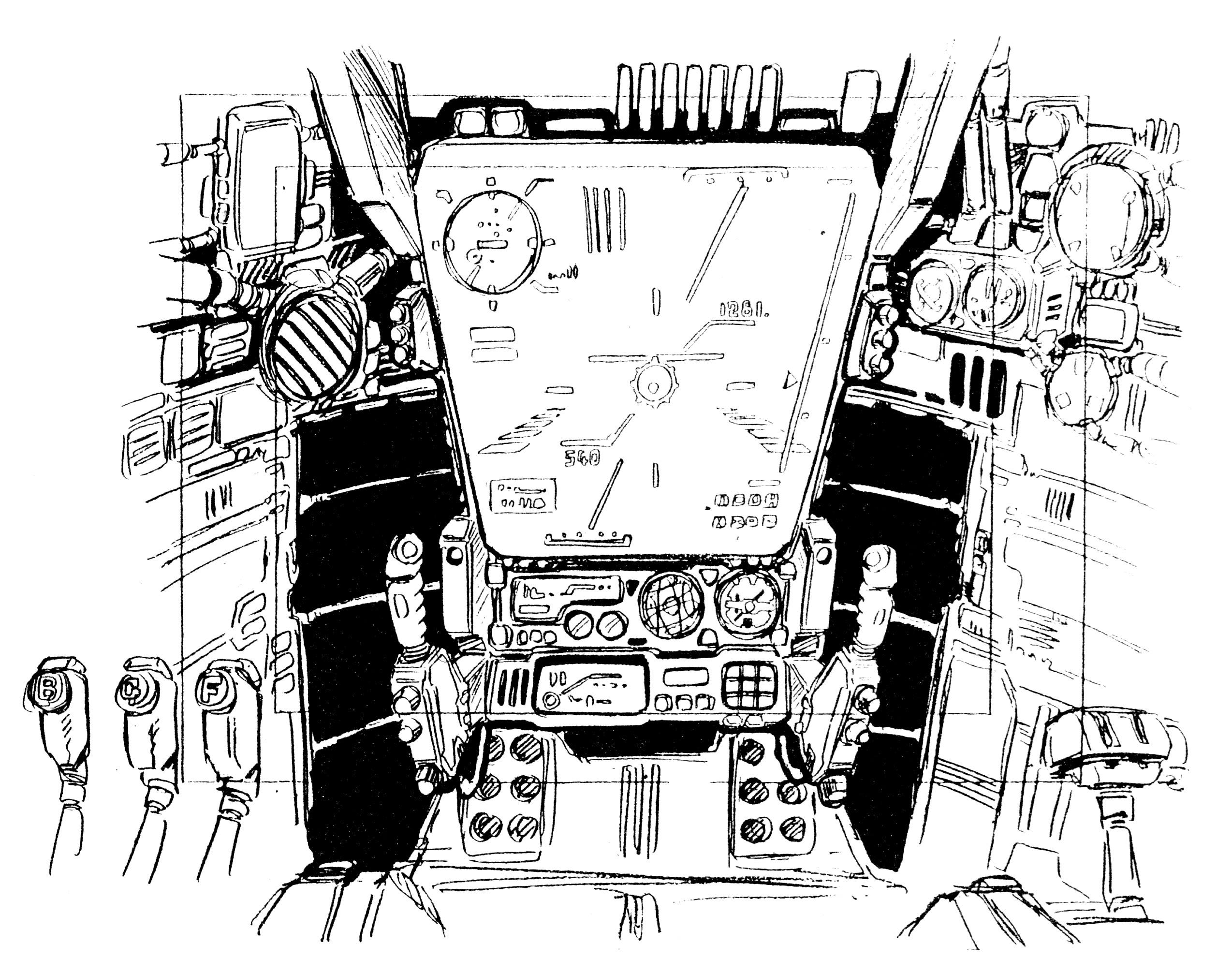 VF-1 Block 1-5 Valkyrie 3MCCS-1C Cockpit Battloid mode 7