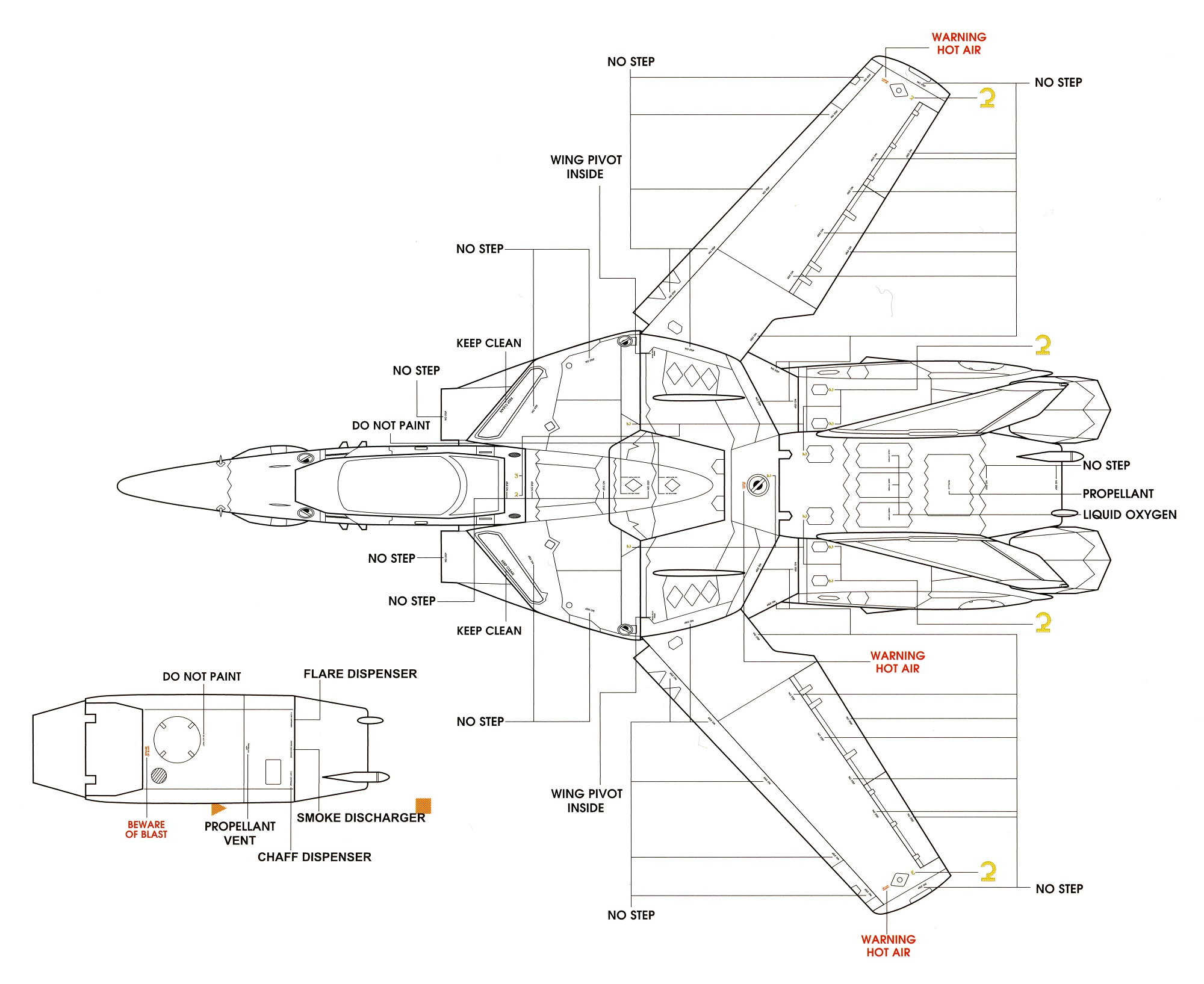 VF-1P Markings 3