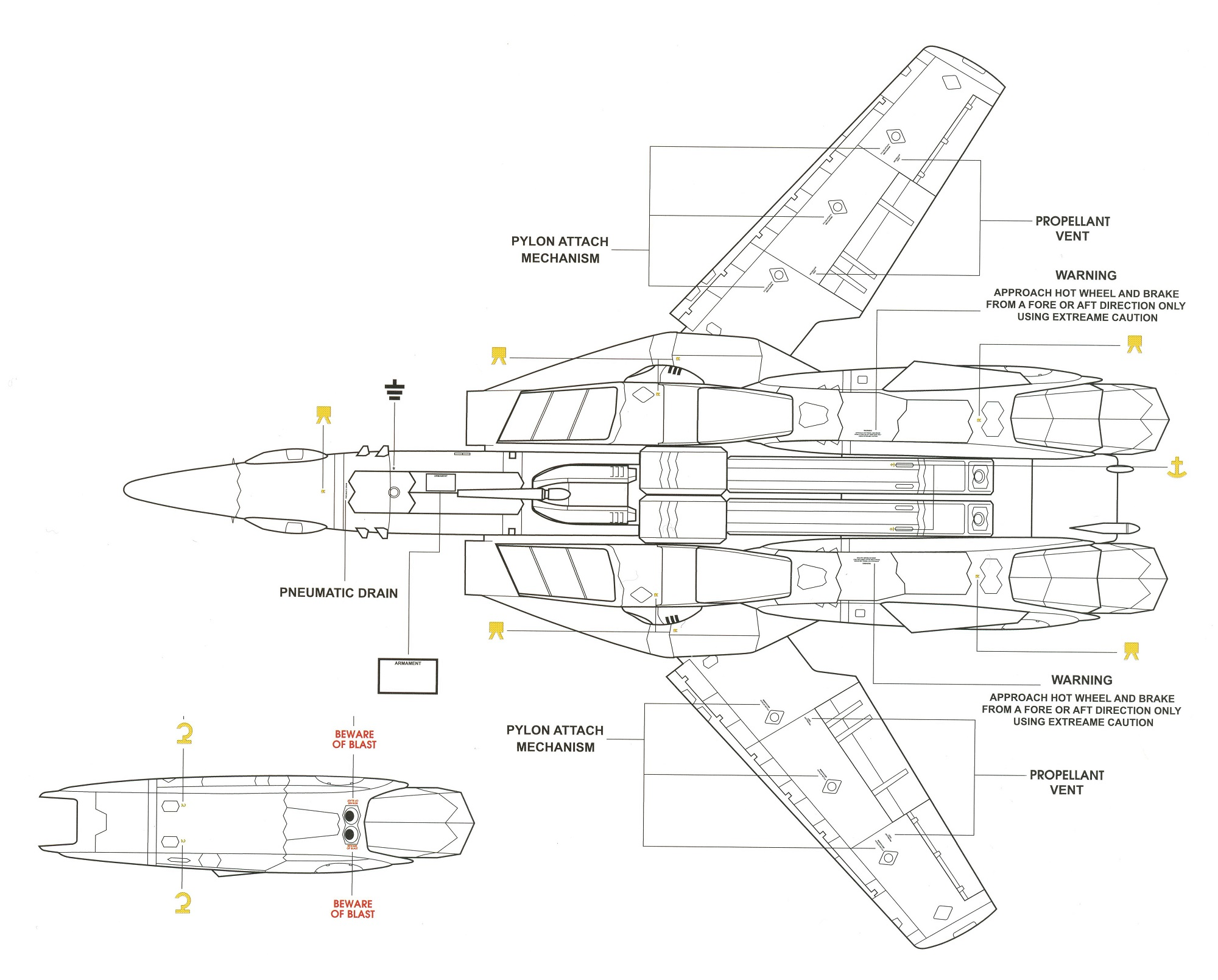 VF-1P Markings 4