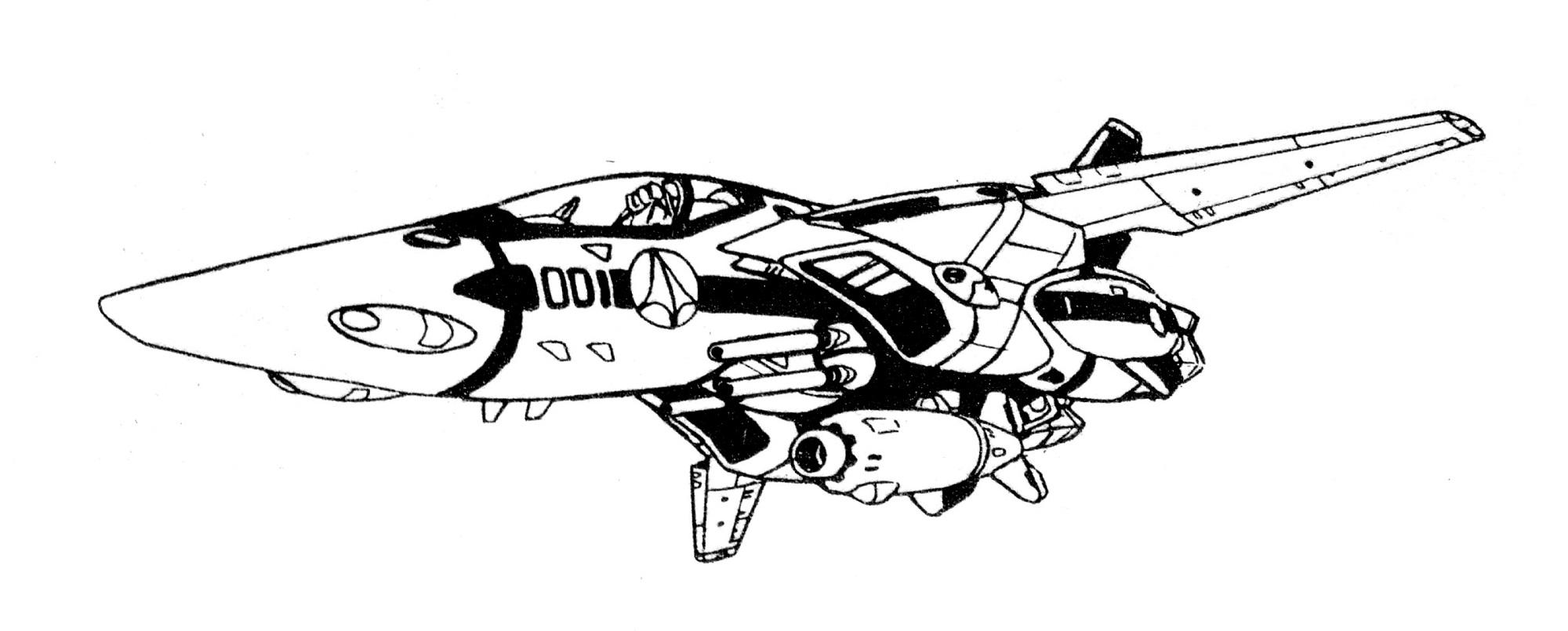 VF-1S Block 1 Valkyrie Fighter 7