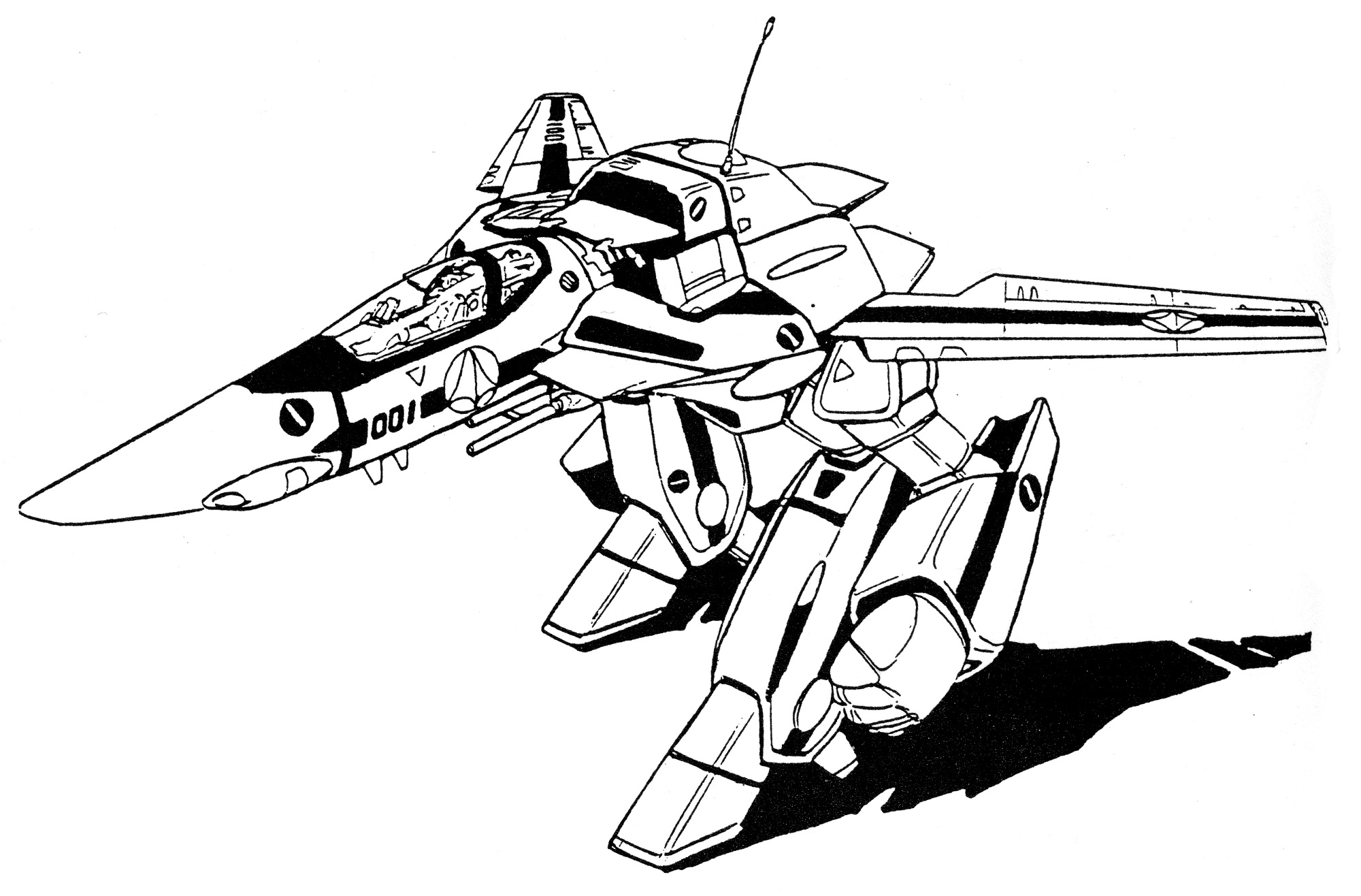 VF-1S Block 1 Valkyrie GERWALK 1