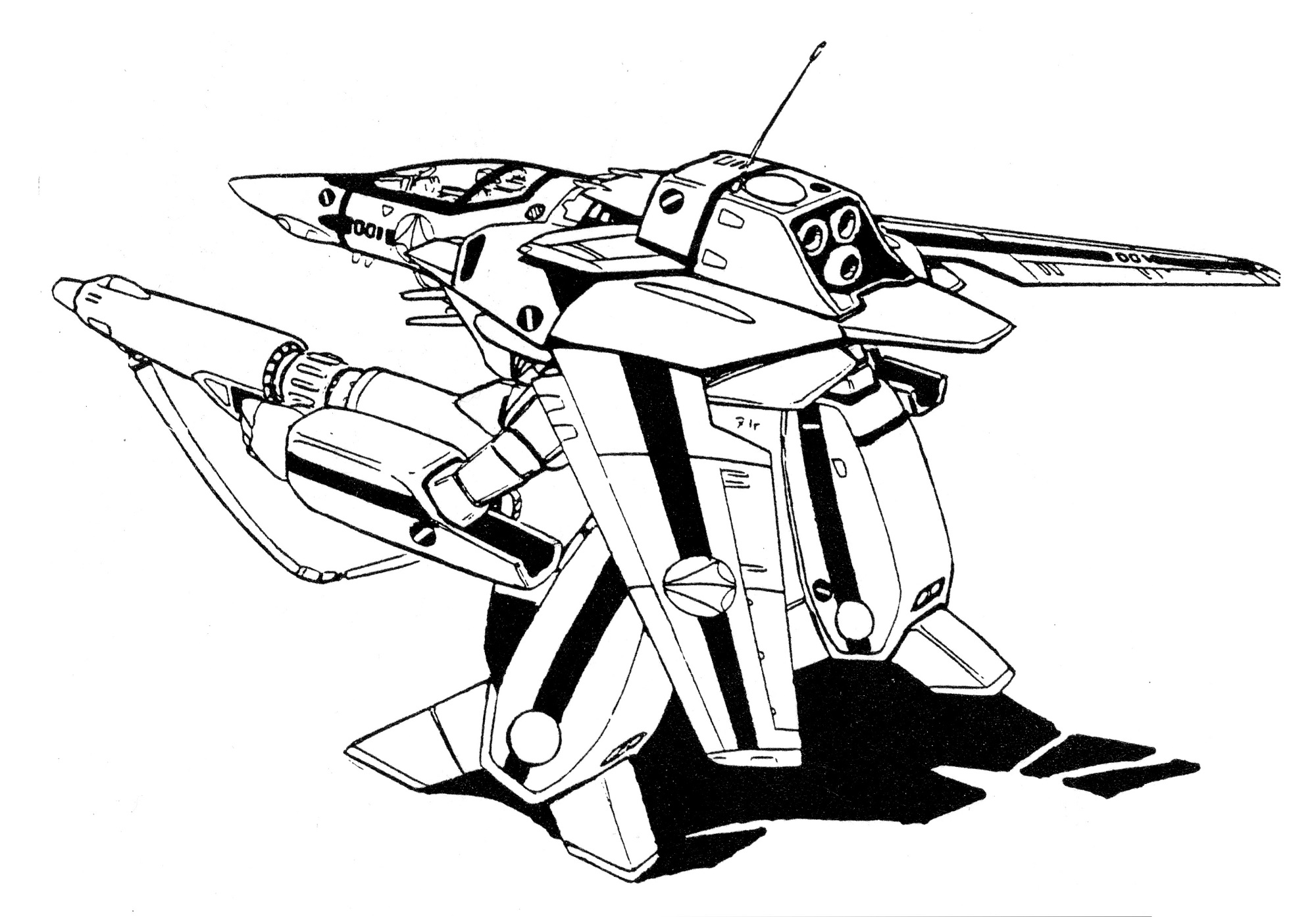VF-1S Block 1 Valkyrie GERWALK 2