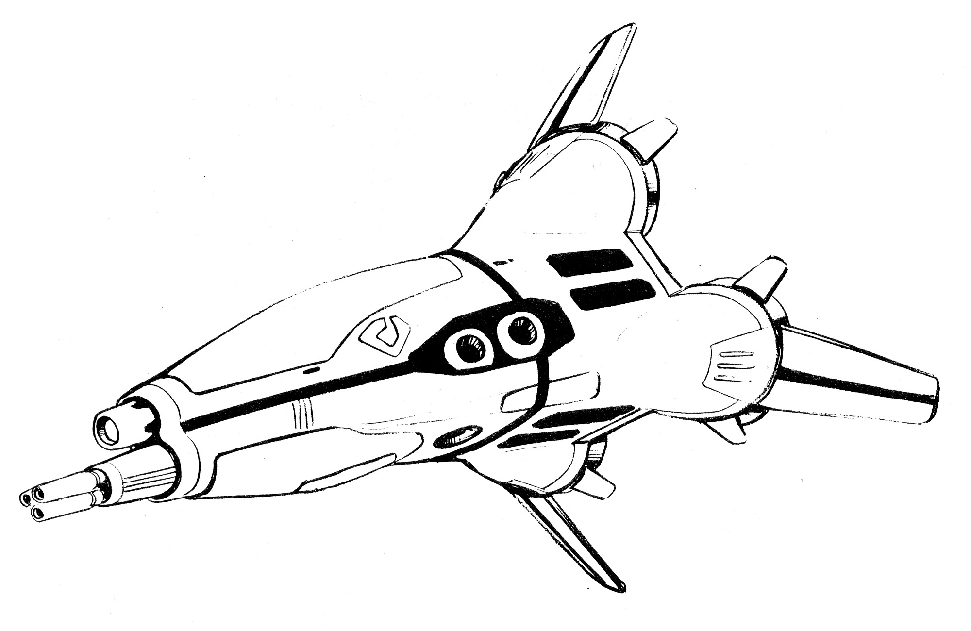 A-FP2 Gnerl Fighter Pod Aerospace Fighter Attack Plane 1