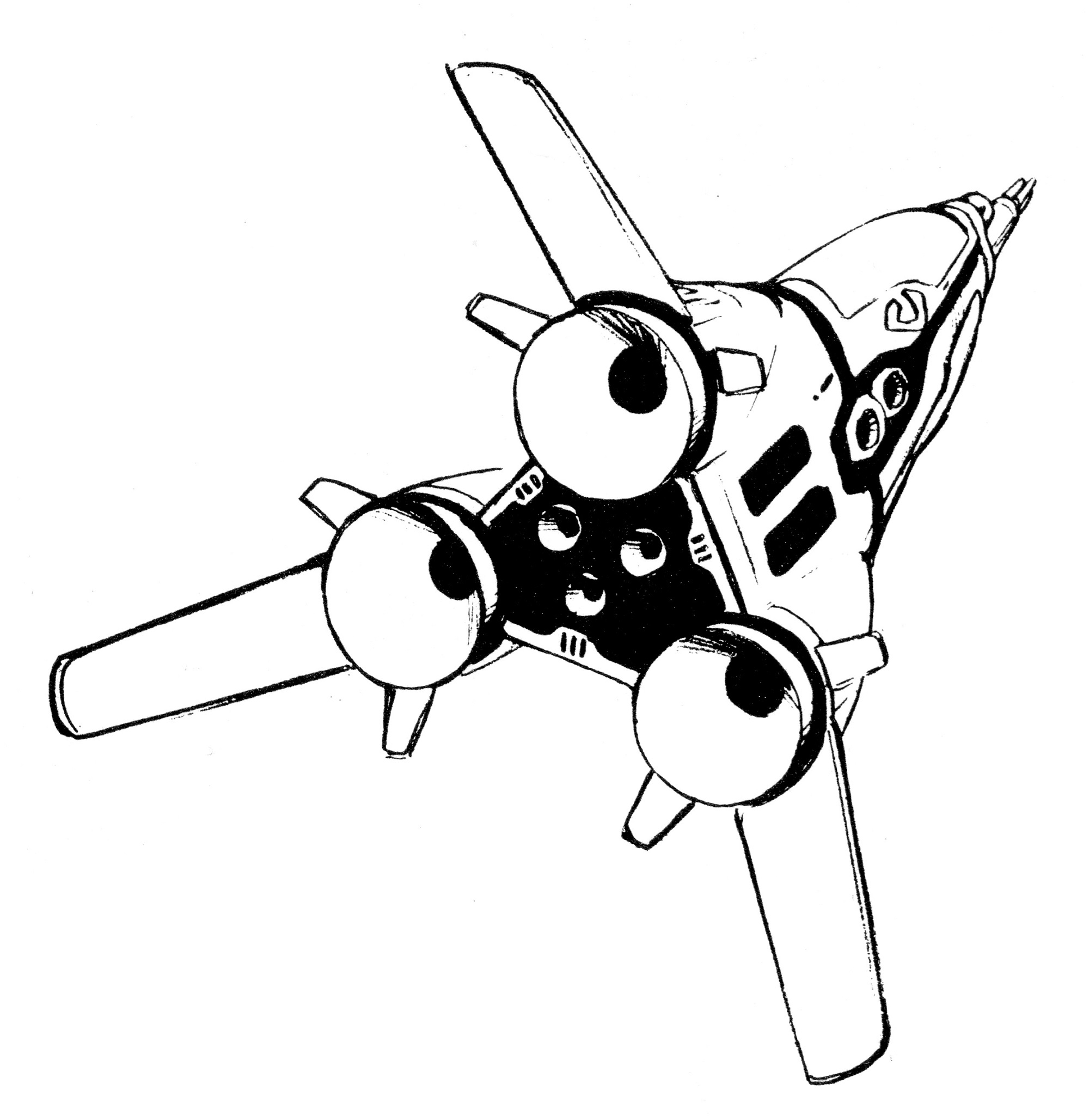 A-FP2 Gnerl Fighter Pod Aerospace Fighter Attack Plane 5