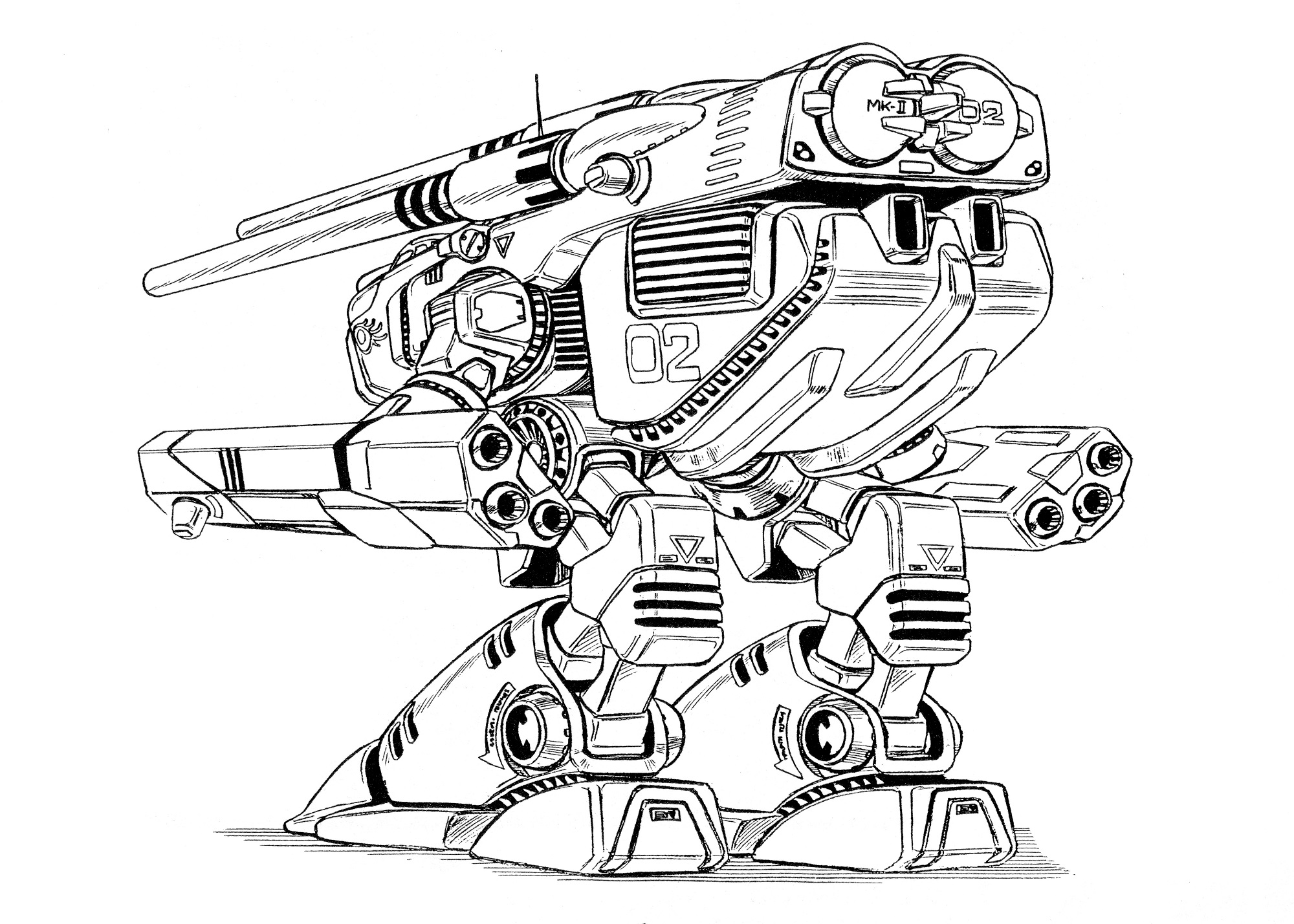 HWR-00-Mk II Monster Heavy Weapons Robot 11