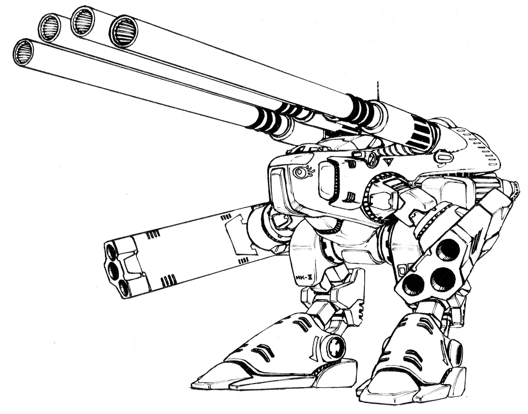 HWR-00-Mk II Monster Heavy Weapons Robot 5