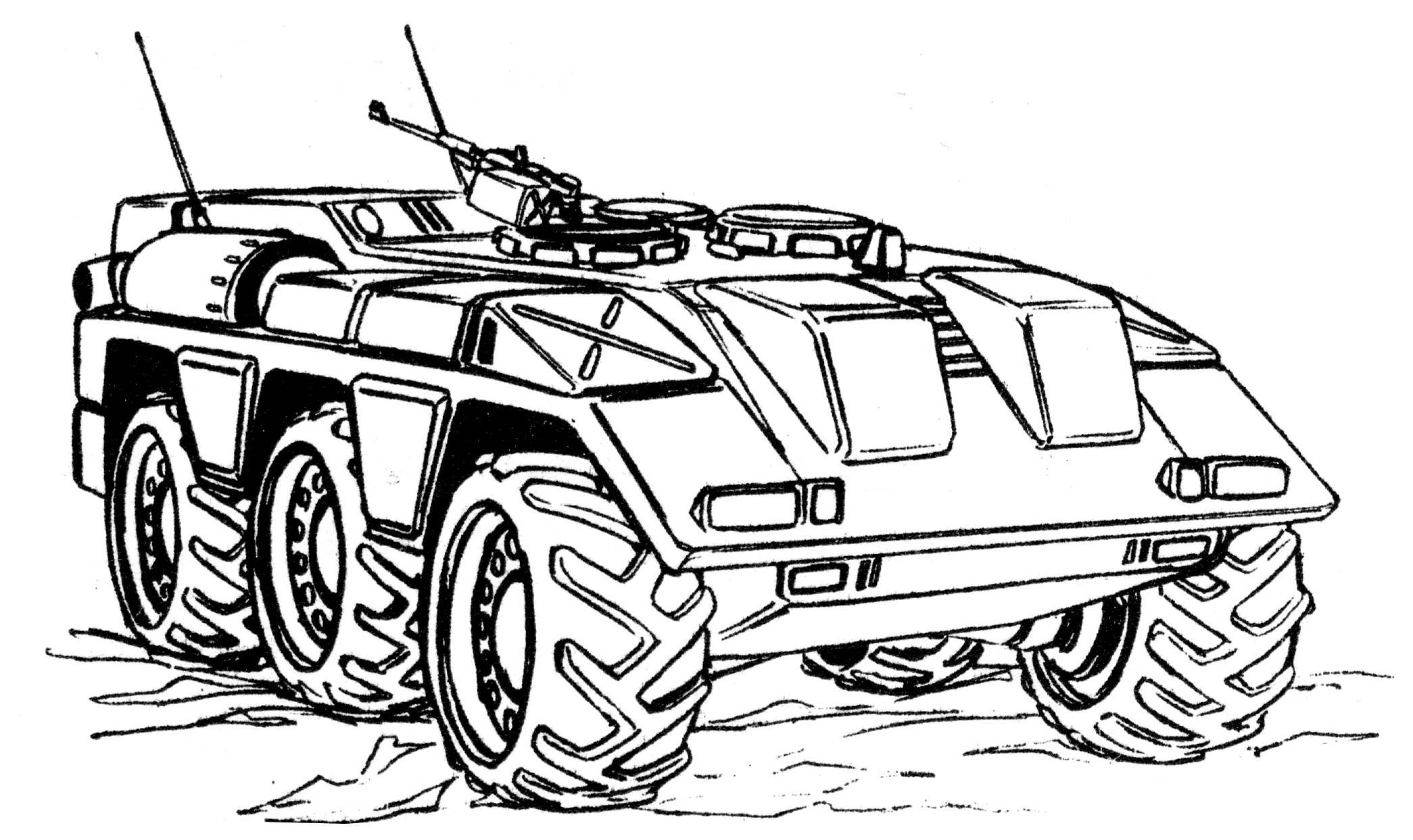 LACV-60 (M1100) Light Cavalry Vehicle Armored Security Vehicle 1