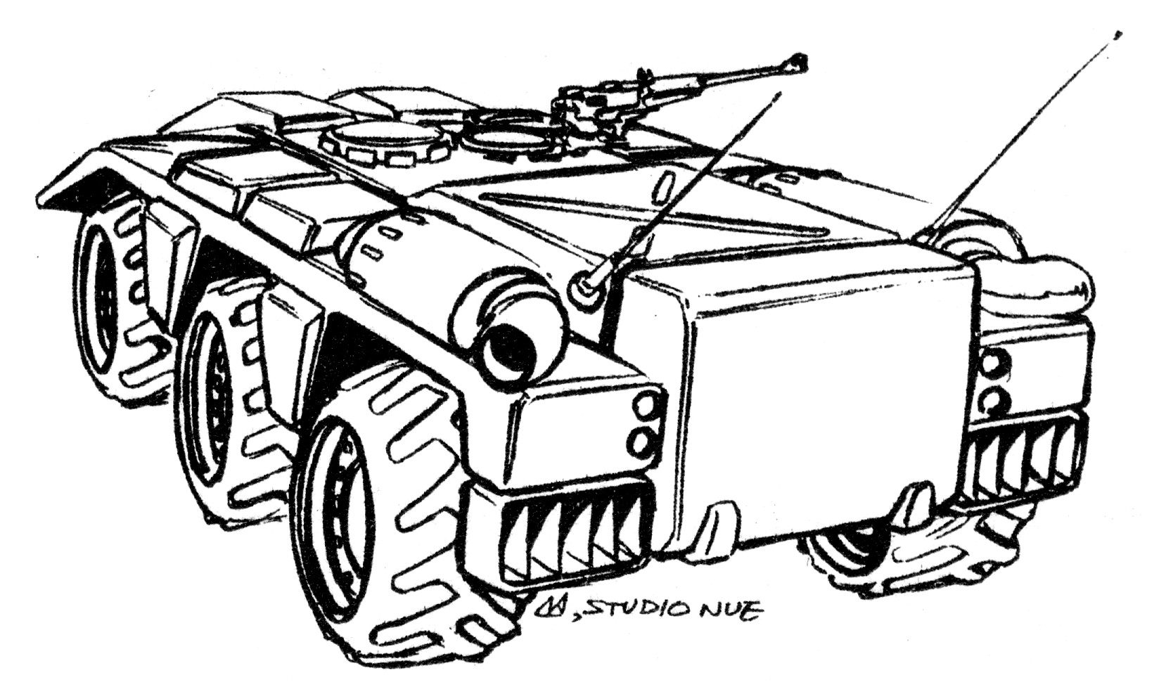LACV-60 (M1100) Light Cavalry Vehicle Armored Security Vehicle 3