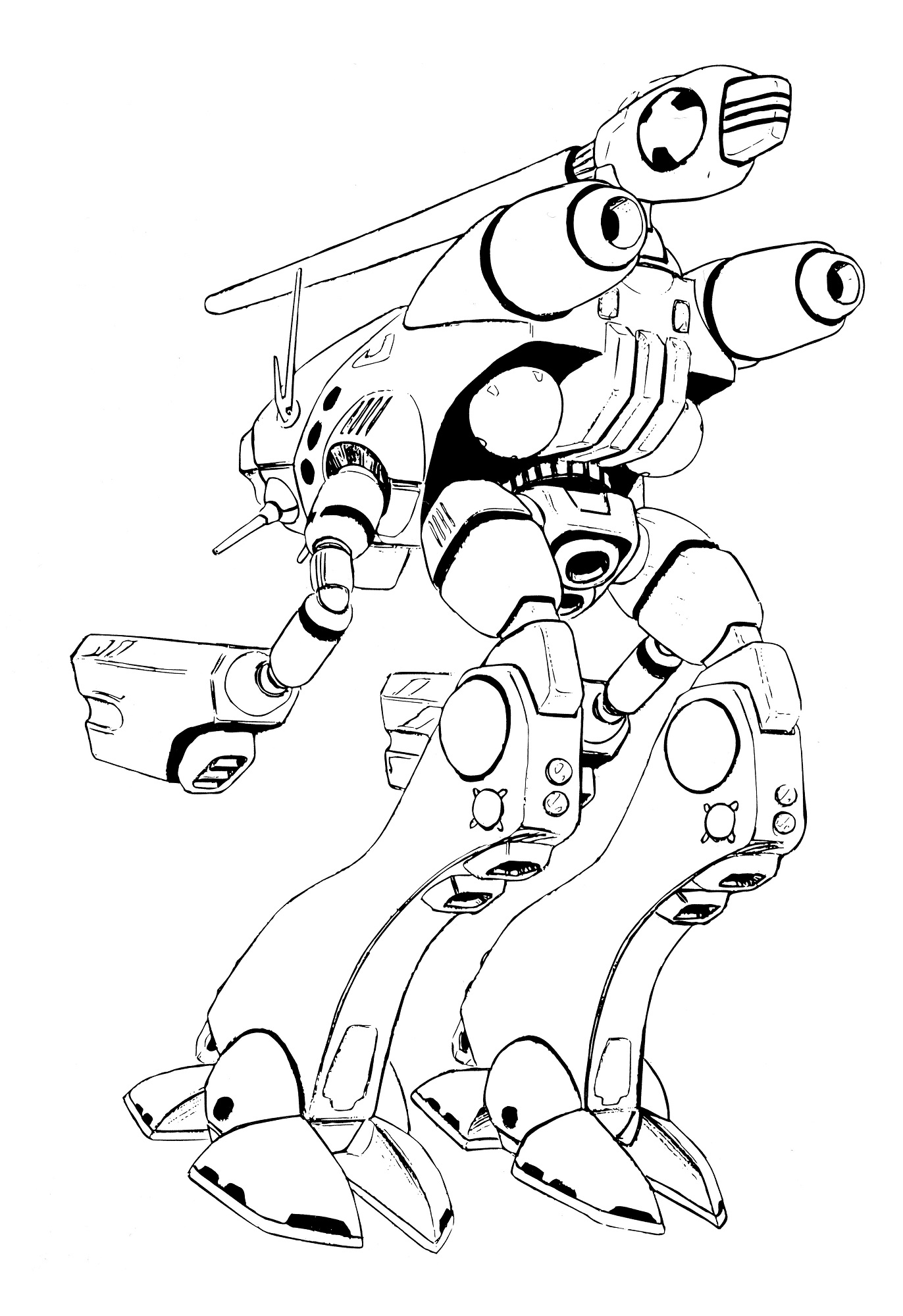 OP-3 Glaug Officer Pod All Environment Combat Robot 12