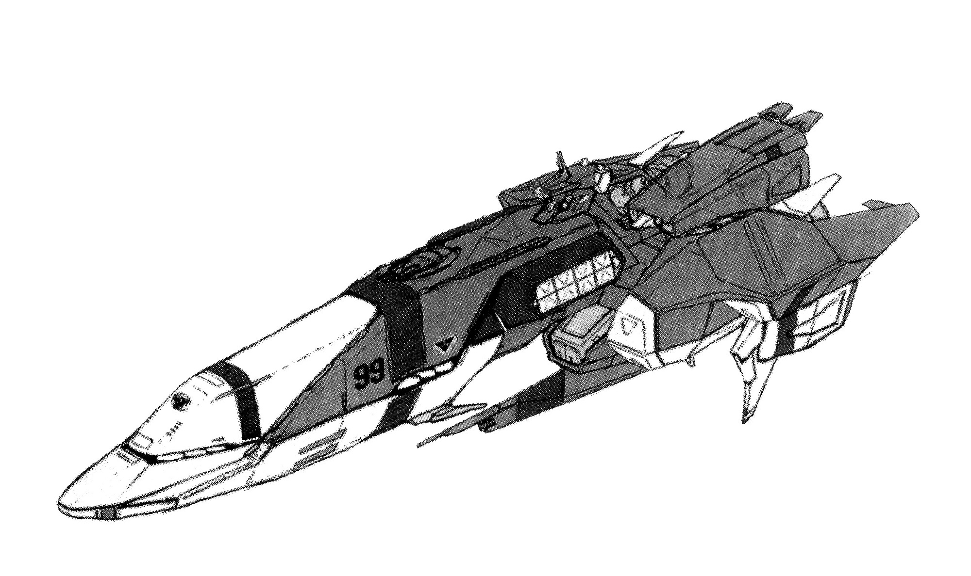 Shimakaze-class Super Dimensional Battlecruiser, guided missile 1