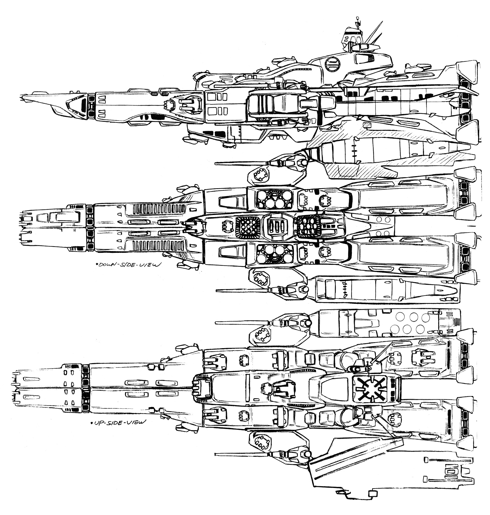 SDF-1 Macross External Views Cruiser 21
