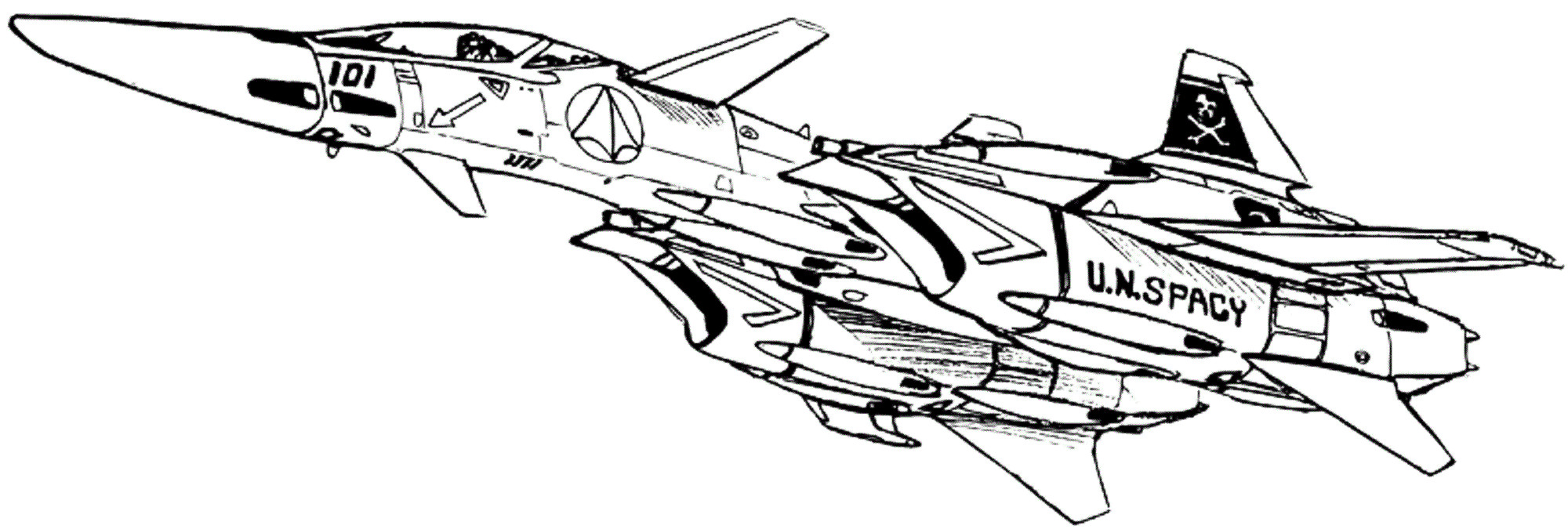 VF-4A Lightning Veritech Fleet Defense Fighter 6